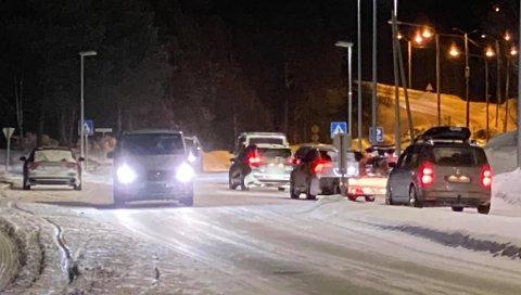 RYKKET UT: Trafikken kunne passere på stedet søndag kveld.