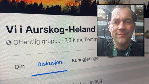 NY GRUPPE: Bjørn-Erik Sørhaug opprettet nylig Facebook-gruppen «Oss i Aurskog-Høland». Fra før eksisterer gruppen «Vi i Aurskog-Høland».