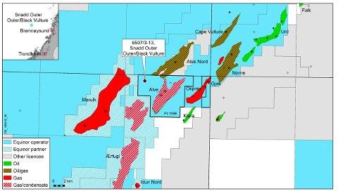 De to nye olje- og gassfunnene ved Snadd Outer Outer og Black Vulture, ligger bare 14 kilometer fra Norne.