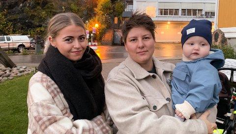 MÅ PENDLE: Hanna Olaussen (t.v.), Hanne Randby og sønnen Falk. Fra og med januar venter en pendlerhverdag for Falk, da han skal pendle sammen med mamma Hanne for å gå i barnehagen.