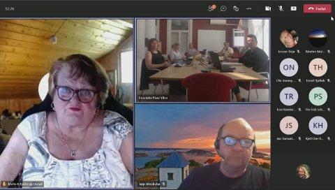 Hovedutvalg for plan og bygg møttes digitalt tidligere denne uka. Skjermdump: Sondre Lindhagen Nilssen