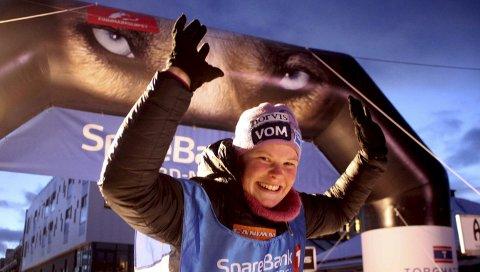 DEBUTERTE: Maren Lindahl er gravid i fjerde måned, men kjørte inn til 17. plass på 500 kilometeren i Finnmarksløpet.FOTO: NILS BAKKE