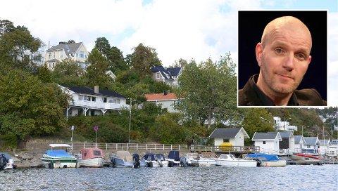 INNFLYTTER: Bård Tufte Johansen og familien har bodd på Ormøya de siste 15 årene. Han er svært fornøyd med stedet, men savner kanelbolleheis fra Åpent Bakeri.