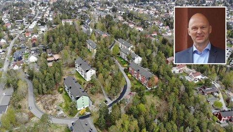 NORDSTRAND: Nobil Eiendom eier en stor eiendom i bydelen, på Midtåsen. Jan Rune Hetle (innfelt) mener at Nordstrand har mange kvaliteter som gjør det til et attraktivt sted å bo. Han mener beliggenheten må være bærende når man utvikler eiendom.