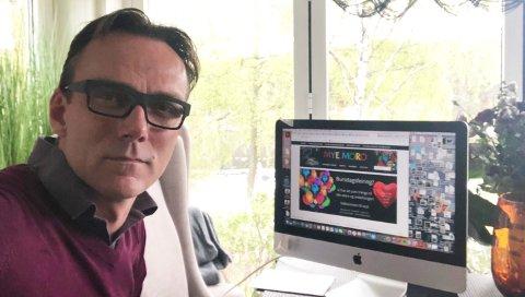 IKKE MORO: Mye Moro-sjef Jan Andre Aune Nerhagen sier han ser positivt på fremtiden, men akkurat nå føles det svart.