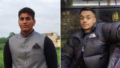 SISTEÅRSELEVER: 18-åringene Hassan Mehmod Hussain (t. v) og Mike Adrian Jeya forteller om sin koronahverdag og hva de skal gjøre når pandemien er under kontroll.