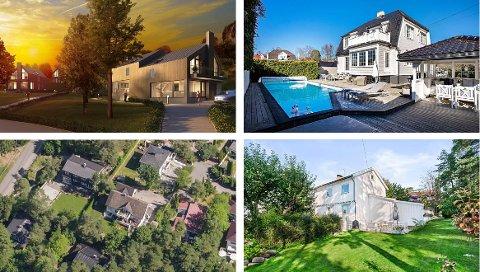 PRISFORSKJELL: 11 millioner kroner skiller den billigste og dyreste av disse fire boligene.