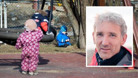 KRITISK: Hvorfor må foreldre betale full pris for et dårligere barnehagetilbud? spør Lasse Heimdal (innfelt).