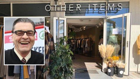 FORRETNINGSMANN: Tor Odd Jacobsen (innfelt) er Spar-kjøpmann i tillegg til å eie klesbutikken Other Items.