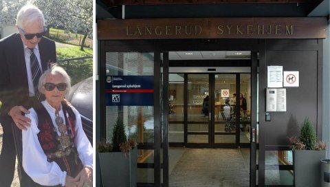 EKTEPAR: Gunleik og kona Brit sammen på 17. mai i fjor, som også var Brits 79-årsdag. Hun har bodd på Langerud sykehjem siden i fjor høst.
