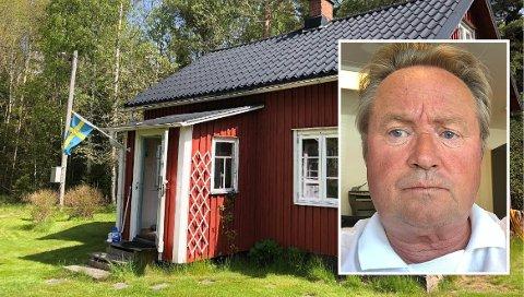 KJEMPER: Einar Rudaa står på for at norske hytteeiere i Sverige igjen skal få bruke hyttene sine uten å havne i karantene når de kommer hjem. På bildet ses Rudaas egen fritidseiendom utenfor Säffle i Sverige.