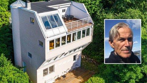 SPESIELL ARKITEKTUR: Dette huset i Langs Linjen ligger nå til salgs, eier Knut Wisting synes tanken på å flytte ut er vemodig.