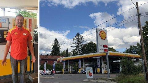 OPTIMIST: Det har buttet imot for selskapet bak Shell Kastellet (bildet) og Shell Manglerud. Eier Lars Gunnar Svendsen (t. v) var bekymret i vinter, men ser nå lyst på fremtiden.