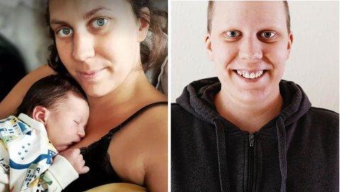 Jessica Proto (31) har i løpet av de siste årene gått igjennom bilulykker, kreftdiagnose og å være gravid og føde under en pandemi. På høyre bilde ser du Jessica  fra da hun mistet håret fra cellegift.