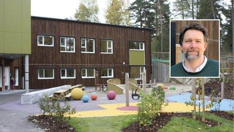 Mellombølgen barnehage, som ledes av Espen Wiik (innfelt), er en av mange barnehager som opplevde økt sykefravær blant ansatte i fjor.