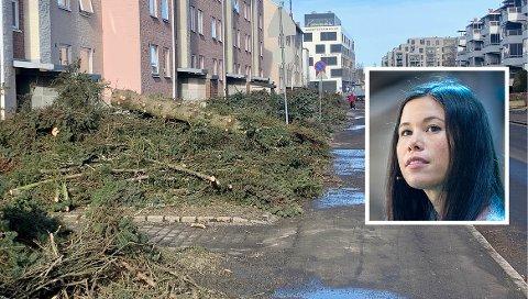 SKAL BLI SYKKELBY: Byråd for miljø -og samferdsel, Lan Marie Berg (MDG) forteller at Langbølgen er en av mange veier i Oslo som får sykkelvei som et ledd i byrådets mål om at hovedstaden skal bli en sykkelby.
