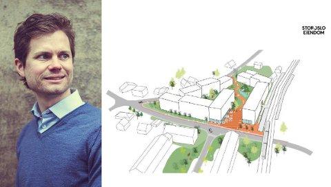– Vi ser for oss at de fem eiendommene til sammen skal transformeres til noe nytt, sier prosjektleder Andreas Kildal Forseth i Stor-Oslo Eiendom.