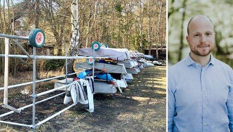 TAR KAMPEN: Bystyremedlem Haakon Riekeles (V) lover å kjempe for at Bundefjorden Seilforening for bygd to boder og et jollestativ på Myren på Malmøya.