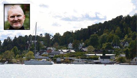 Tomten ligger i Malmøyveien 28 B. – Vi tror huset og tomten blir ivaretatt, sier Martin Haug Schilde (innfelt). Illustrasjonsfoto: Nina Schyberg Olsen / privat
