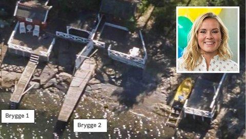 De to bryggene på Helene Olafsens eiendom som Plan- og bygningsetaten mener ikke er omsøkt.