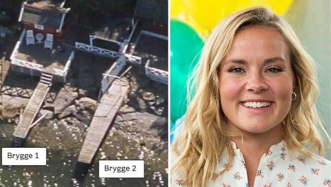 Kommunen mener badebrygger og andre tiltak på Helene Olafsens strandeiendom er ulovlig satt opp.