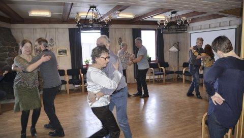 Mange ville være med på dansekus under Folkemusikktreffen.
