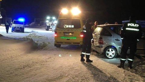 UHELL: To biler var involvert i et trafikkuhell nedenfor Ringveien i Tromsø onsdag.