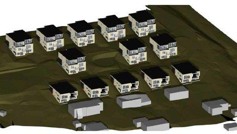 TO OG TO: Boligene er tenkt plassert to og to med opptil fire boenheter i hvert par, eller enkeltvise boliger med opptil to boenheter.