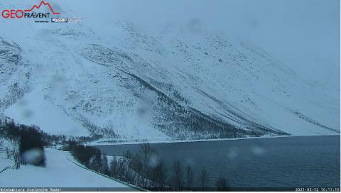 SKRED: Skredet har gått i et av de mest skredutsatte områdene i Troms.
