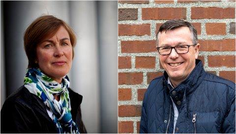 IKKE MASTER: Det er naturlig å stille krav til en stilling som rektors rådgiver, sier Ellen Karoline Dahl ved Forskerforbundet. UiT-rektor Dag Rune Olsen til høyre.