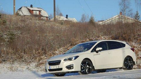 GJENOPPSTÅTT: Subaru kommer igjen med en sportslig kompaktkombi med et kjørepreg vi kjenner igjen fra tidligere Impreza-generasjoner.FOTO: ØYVIN SØRAA