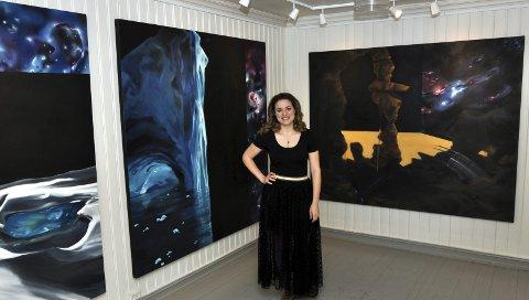 STORT FORMAT: Elise Gegauff er tilbake i Gjøvik med utstilling på Drengestua sammen med Heidi Celine Engen Norborg.