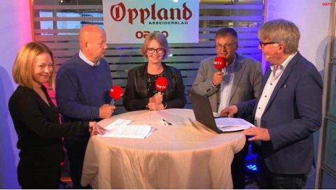 KANDIDATENE: Torvild Sveen (Sp), Anne Bjertnæs (H) og Even Solhaug (Ap) møttes til debatt tirsdag etter valgdagen, ledet av OAs Stina Håkensbakken Roland og Erik Sønstelie.