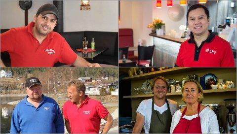 SMILER: Casablanca Kjøkken, Jako Sushi, Aurdal Fjordcamping og Lokstallen Røykenvik er blant dem som kan henge opp smilefjeset.