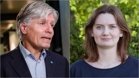 REAGERER: Ola Elvestuens (V) uttalelser vekker harme hos Stine Hansen (V).