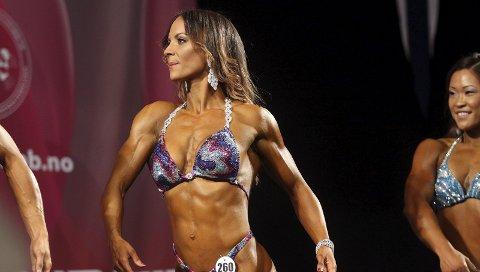 07c0df2f 5. plass: Arielle Puente Baker kom til finalen i bodyfitness, og ble nummer