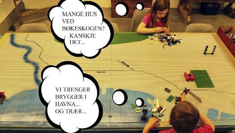 Lego: Barna i Larvik inviteres til Kreativt verksted i Verksgården 15. oktober for å bygge Larvik by i Lego slik de vil ha det – og det skal skje helt uten voksensensur.