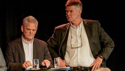 IKKE ET TEAM: Før valget var det klart at Erik A. Sørensen og Erik Bringedal neppe kom til å inngå et samarbeid. Men i går kveld svirret ryktene om at det likevel var i ferd med å skje. Nå er Bringedal soleklar på at BedreLarvik og Høyre aldri vil skrive under på noen samarbeidsavtale.