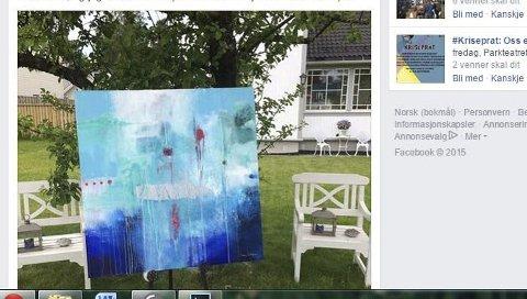 SOLGT: Vibeke Lillefjæres «Moving forward» ble solgt for 14.000 kroner via Facebook. Nå har hun gitt et nytt bilde til auksjonen.