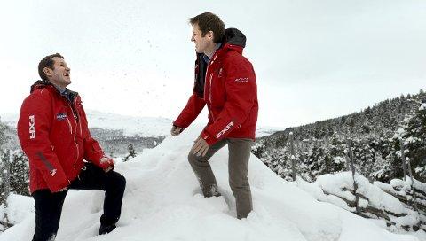 NYE HØYDER: Trond Ola (til venstre) og Per Morten Hektoen har drevet utviklingen av Savalen i snart 20 år. De ser stadig nye muligheter for utvikling.