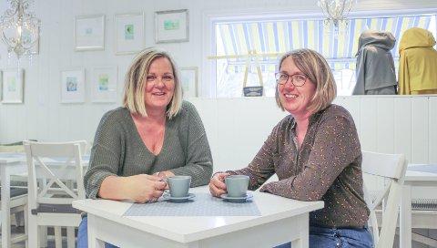HÅPER PÅ FULLT HUS: Hilde Ditmansen og Nina Høier håper så mange som mulig tar turen til Skafferiet i år.
