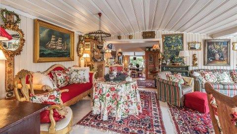 Hytta på Hafsund som nå er solgt, er innredet med mange ting som er kjøpt over hele verden.