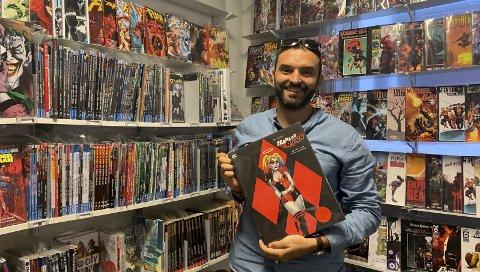 In med superhelter: Jan Erik Suarez hos Zoo Comics tok en sjanse da han åpnet tegneseriebutikken. Nå er det hans levebrød, og det er mye takket være økt interesse for popkultur og superhelter.