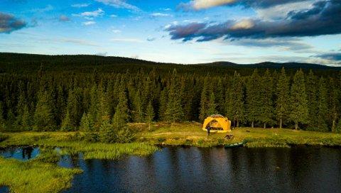 DOME: Teltet, eller Arctic Dome som den heter, skal etter planen settes opp langs Åsta.
