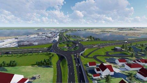 Ferdig i 2020: Slik blir Åkerkrysset når det står ferdig i våren 2020.