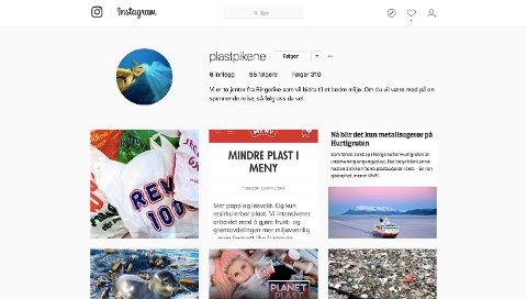 Aurora Ringsjø (18) og Malin Hagen Olsen (17) opprettet en instagrambruker kalt @plastpikene.