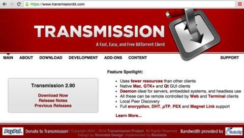 Utpressingsprogramvaren ble spredd gjennom en infisert versjon av det populære programmet Transmission.