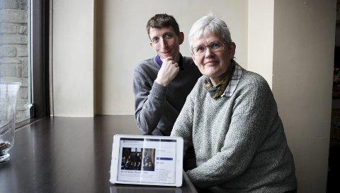 Vil presentere nyheter for alle: Øivind Bratberg og Trine Andersen vil presentere nyheter fra Storbritannia som man ikke trenger å være ekspert for å forstå. FOTO: ELISABETH JOHNSEN