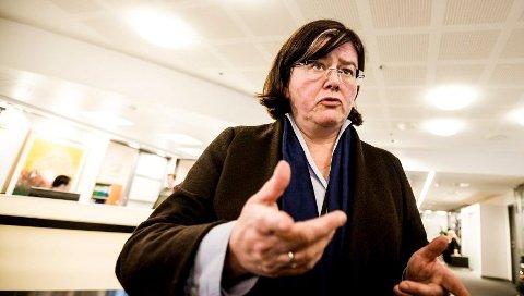 AVVISER: – Noen liker Viken, andre ikke. Men 1. januar er vi i Viken, og vi har ikke noe å hente på å spre usikkerhet ved vårt bidrag nå, sier fylkesordfører Anette Solli (H). Medfylkestingets flertall i ryggen avviser hun «omkamp» om å legge milliardene i Akershus inn i Viken-økonomien.  FOTO: TOM GUSTAVSEN