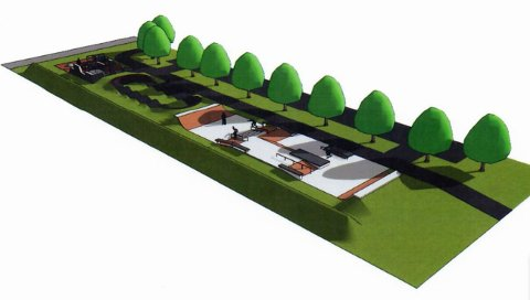 FORSLAG: Slik kan deler av aktivitetsparken i Vollen se ut, men det er ennå tidlig i prosjektet.